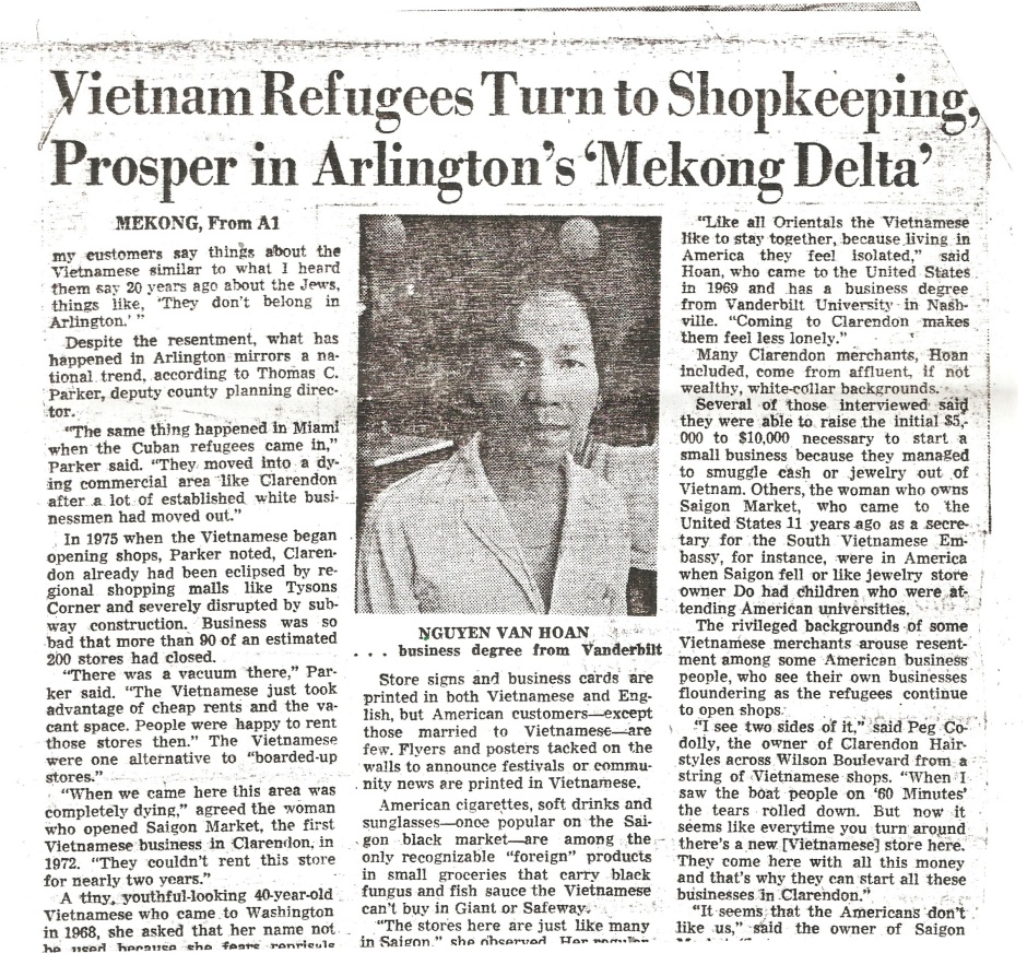 Vietnamese Refugees Prospering in Clarendon