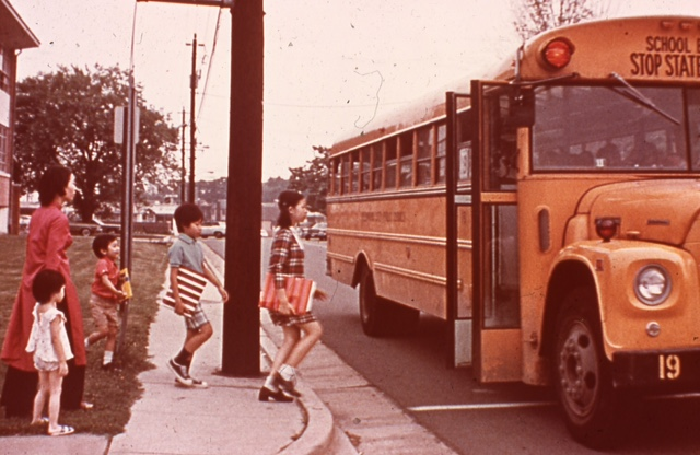 Children go to summer school June 1975 Photograph Courtesy of Thuy Dinh